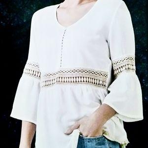 🆕️ White tunic mesh top BNWT